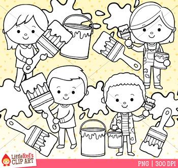 Paint Kids Clip Art