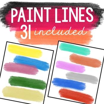 Paint Lines Clipart