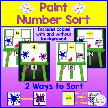 Paint Number Sort