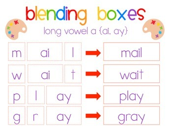 Paint Party {long vowel a - ai, ay} Word Work