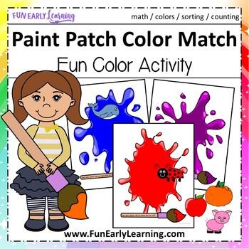 Paint Patch Color Match - Hands-on Activity {Common Core}