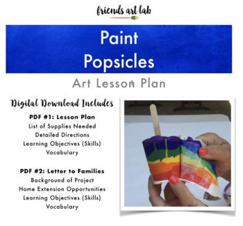 Paint Popsicles (Process Art, Sensory, Tactile Stimulation, Rainbow)