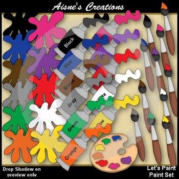 Paint Set Clipart Pack