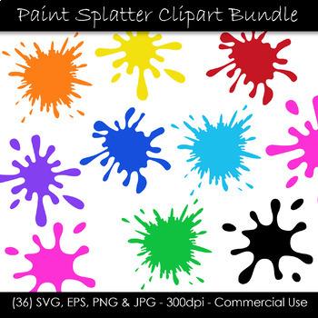 Paint Splash Clip Art - Paint Splatter