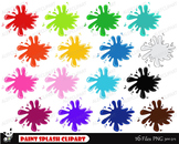 Paint Splash Clipart, Paint Splashes Clip Art, Paint Clipa