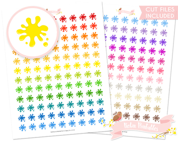 Paint Splash Printable Planner Stickers