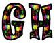 Paint Splat Alphabet Bulletin Board Letters