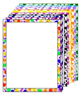 Paint Splat Borders with thin border