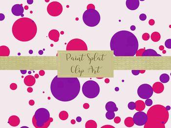 Paint Splat Clip Art, Separate PNG Files, High Resolution.