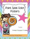 Paint Splat Color Posters
