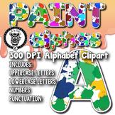 Paint Splats Alpha Clip Art