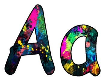 Paint Splatter BB letters