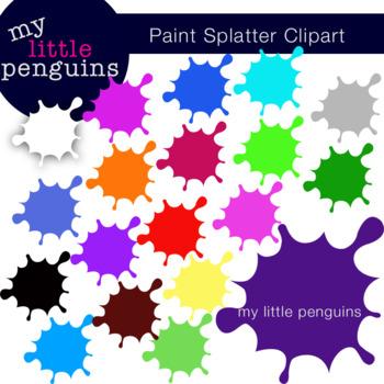 Paint splatter colorful. Clipart colors clip art
