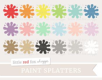 Paint Splatter Clipart; Painting, Art Supplies