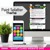 Paint Splatter Smart Class Website Doc (Google Slides Style!)