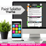 Parent Communication Google Slides Doc   Distance Learning   Paint Splatter