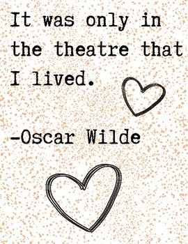 Paint Splatter Theatre Quote Posters