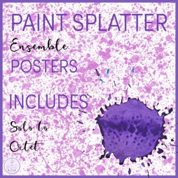 Paint Splatter Themed Ensemble Posters