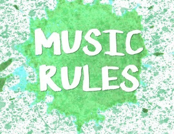 Paint Splatter Themed Music Rules