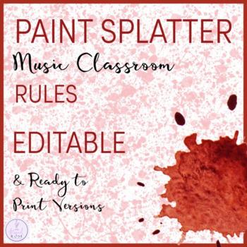 Paint Splatter Themed Music Rules