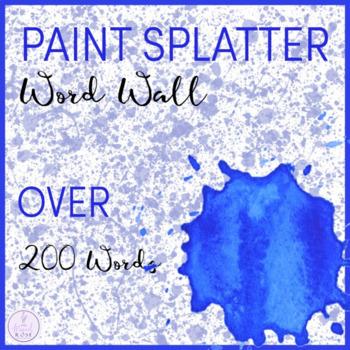 Paint Splatter Themed Word Wall