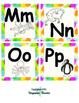 Paint Splatter Word Wall Letters