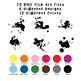 Paint Splatters Clip Art - 72 png files - 6 designs in 12