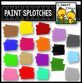 Paint Splotches Clip Art