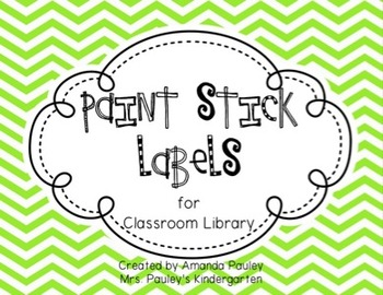 Paint Stick Labels {for Classroom Library}