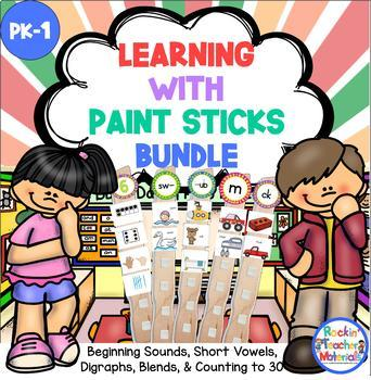 Paint Sticks - Literacy and Math Station Activities