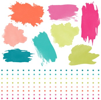 Paint Strokes And Borders Clipart, Paint, Strokes, Borders, Set #193