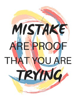 Paint Strokes Inspirational Art Quote