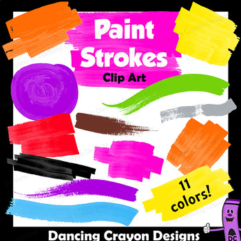 Paint Strokes | Clip Art Paint Splatters