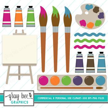 Paint Supplies Clipart Pack