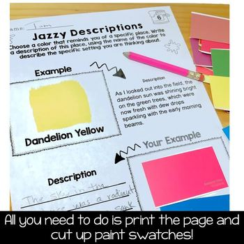 Paint Swatch Comprehension Pack: Engaging Activities for Centers and Reading