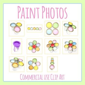 Paint Tin Paint Photos / Photographs Clip Art for Commercial Use