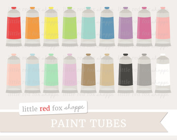 Paint Tube Clipart; Painting, Art Supplies