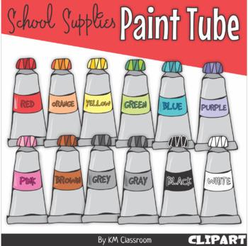 Paint Tube in Rainbow Colors - Clip Art