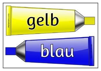 Paint Tubes Colors - German