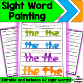 Sight Words Activity - Editable Painting Words Fun!