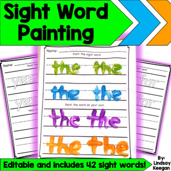 Paint Your Sight Words! - Word Work Fun!
