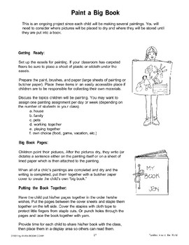 Paint a Big Book and Other Ideas