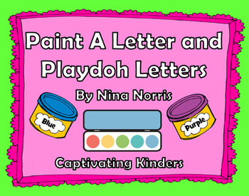 Paint a Letter and Playdoh Mats - 2 in 1!