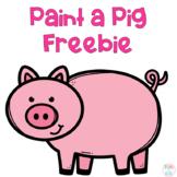 Paint a Pig FREEBIE