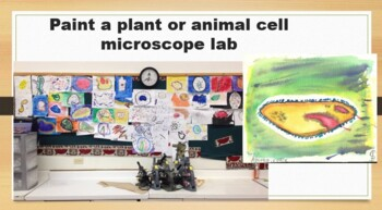 Paint a plant or animal cell microscope lab