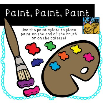 Paint and Paintbrushes Clip Art by Kid-E-Clips Commercial and Personal Use