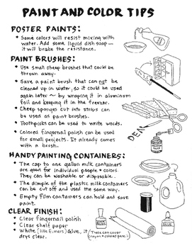 Paint and color tips. Fun and helpful. FREE