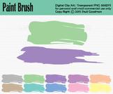 Paint brush stroke - Water colors clip art