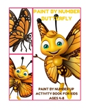 Paint by Number Butterfly - Paint by Number up Activity Bo