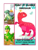 Paint by Number Dinosaur - Paint by Number up Activity Boo